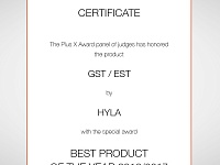 Certificate BEST PRODUCT OF THE YEAR 2016/2017