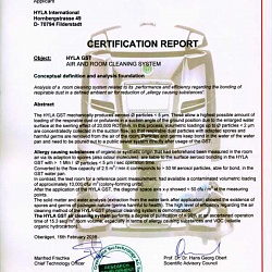 CERTIFICATION REPORT GreenBase BioTechnology AG